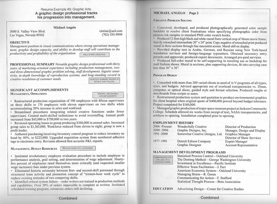 2 page resume example 2 page resumes two page resume sample ...